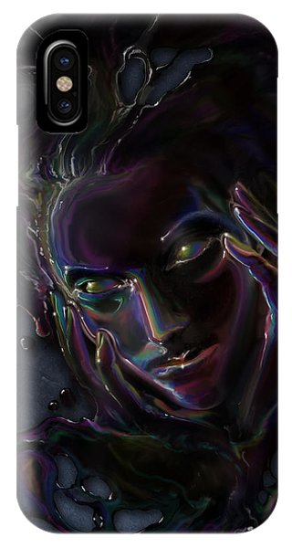 Cassiopeiaart iPhone Case - Oil Spill by Cassiopeia Art