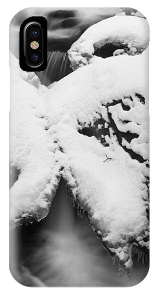 IPhone Case featuring the photograph Oirase Gorge Stream In Winter by Brad Brizek