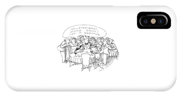 O.k., Everybody.  Stand Back! Let It Breathe IPhone Case