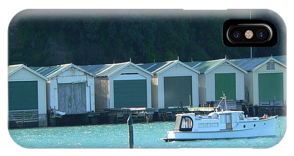 Okahu Bay Historic Boat Sheds Auckland IPhone Case
