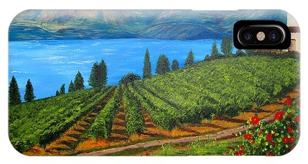 Okanagan Vineyard IPhone Case