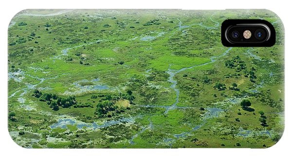 Delta iPhone Case - Okavango Delta by Louise Murray/science Photo Library