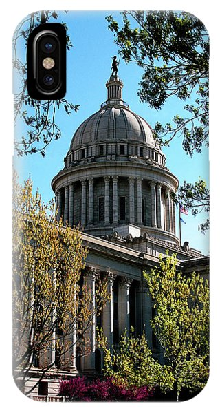 Capitol Building iPhone Case - Oklahoma City Capitol In The Spring by Toni Hopper
