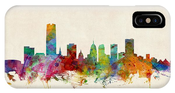 Oklahoma iPhone Case - Oklahoma City Skyline by Michael Tompsett