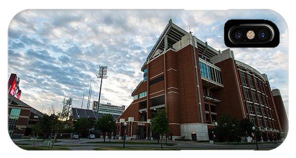 Oklahoma University iPhone Case - Oklahoma Memorial Stadium by Nathan Hillis