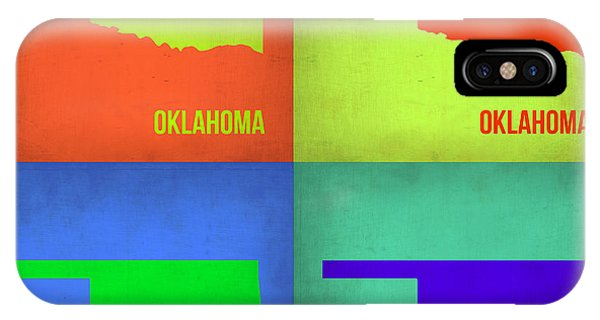 Oklahoma iPhone Case - Oklahoma Pop Art Map 1 by Naxart Studio