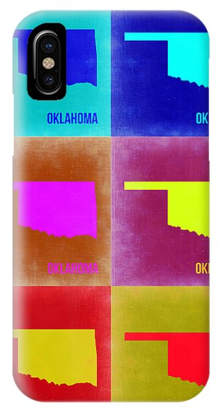 Oklahoma iPhone Case - Oklahoma Pop Art Map 2 by Naxart Studio