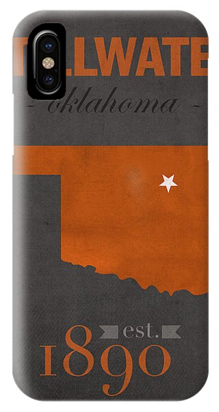Oklahoma iPhone Case - Oklahoma State University Cowboys Stillwater College Town State Map Poster Series No 084 by Design Turnpike