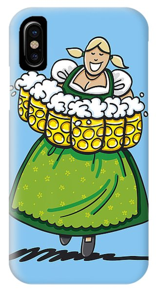 Oktoberfest Beer Waitress Dirndl IPhone Case