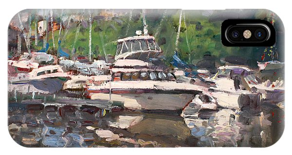 Waterscape iPhone Case - Olcott Yacht Club by Ylli Haruni