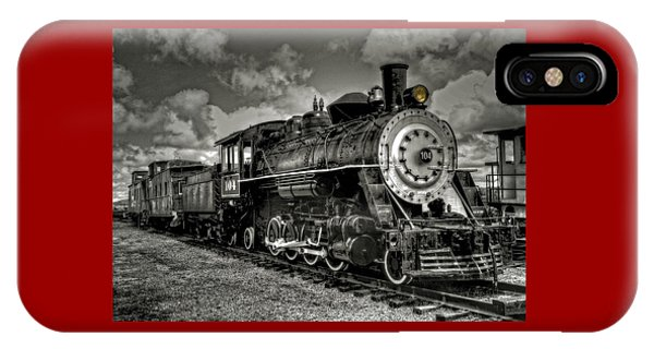 Old 104 Steam Engine Locomotive IPhone Case