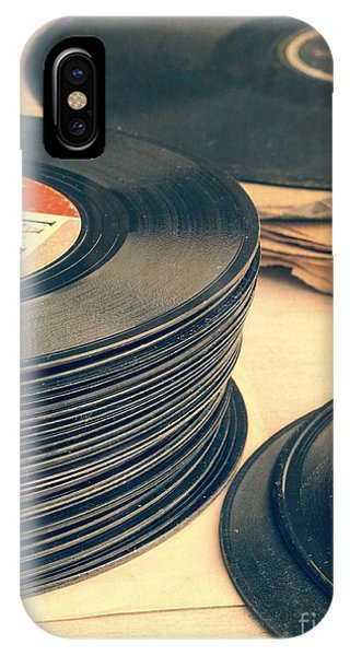 Music iPhone Case - Old 45s by Edward Fielding