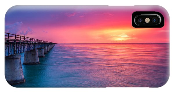 Old 7 Mile Bridge Sunset IPhone Case