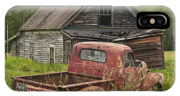 Old Abandoned Homestead And Truck IPhone Case