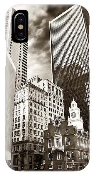 Bean Town iPhone Case - Old And New In Boston by John Rizzuto
