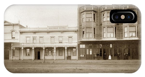 Old And New Salinas Hotel Was On West Market Street Circa 1885 IPhone Case