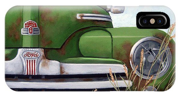 Old And Rusty Vintage Ford Realism Auto Scene IPhone Case
