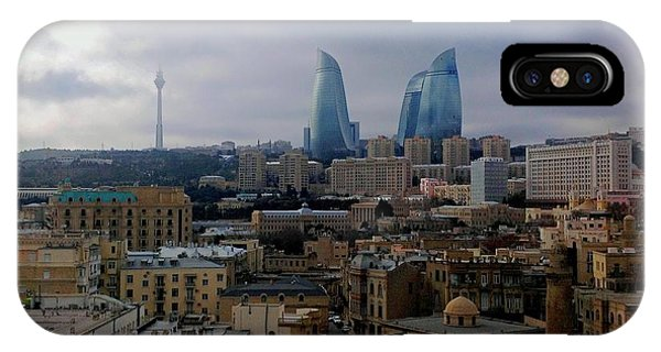 Old Baku And Flame Towers IPhone Case