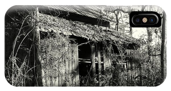 IPhone Case featuring the photograph Old Barn In Black And White by Lisa Wooten