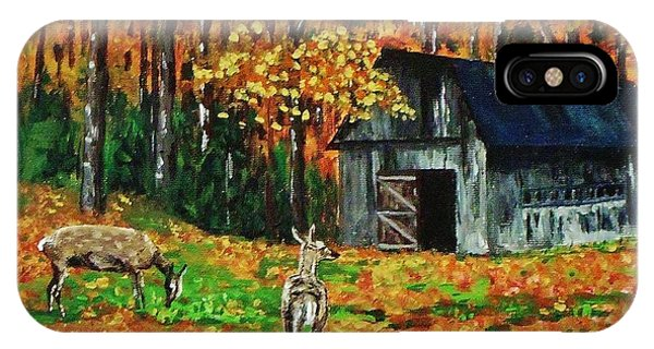 Old Barn In The Woods IPhone Case