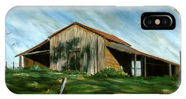 Old Barn Landscape Art Pleasant Hill Louisiana  IPhone Case