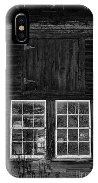 New England Barn iPhone Case - Old Barn Windows by Edward Fielding