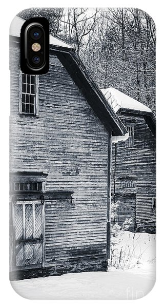 New England Barn iPhone Case - Old Barns Windsor Vermont by Edward Fielding
