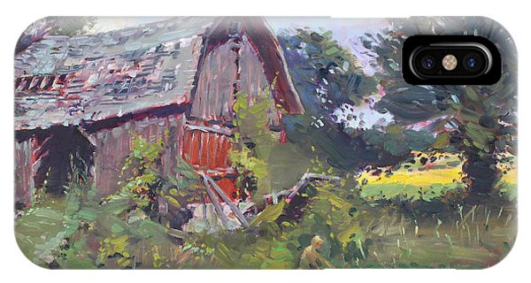 Barn iPhone Case - Old Barns  by Ylli Haruni