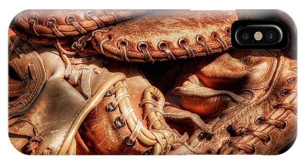 Old Baseball Gloves IPhone Case