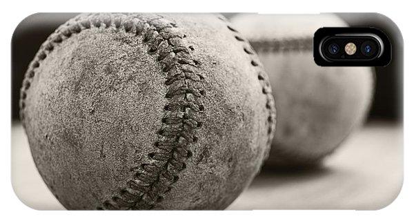 Old Baseballs IPhone Case