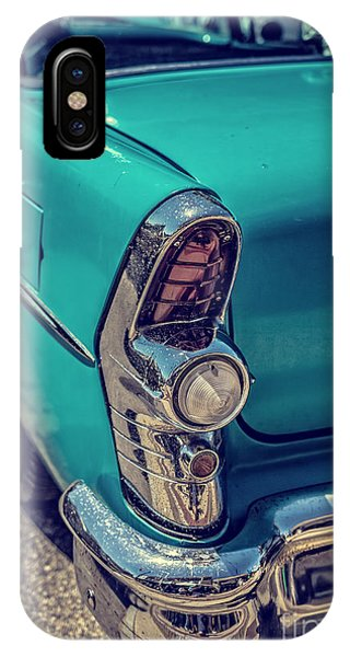 Auto Show iPhone Case - Old Blue Car by Edward Fielding