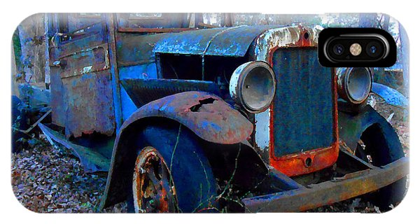 Old Blue Pickup Truck IPhone Case