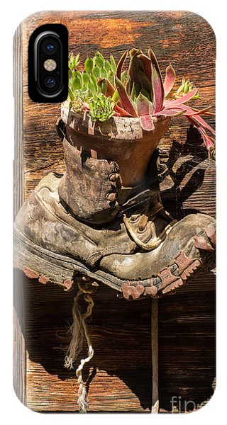 Old Boot Potted Plant - Swiss Alps IPhone Case
