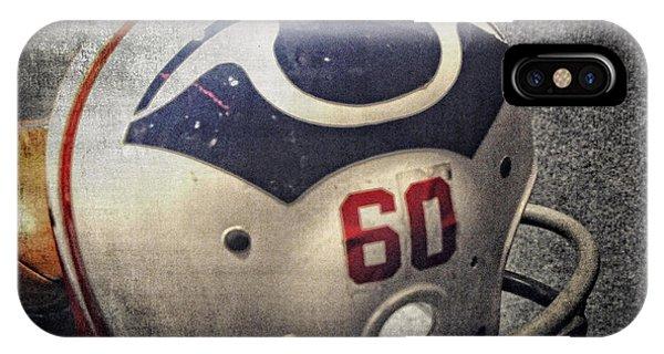 Old Boston Patriots Football Helmet IPhone Case
