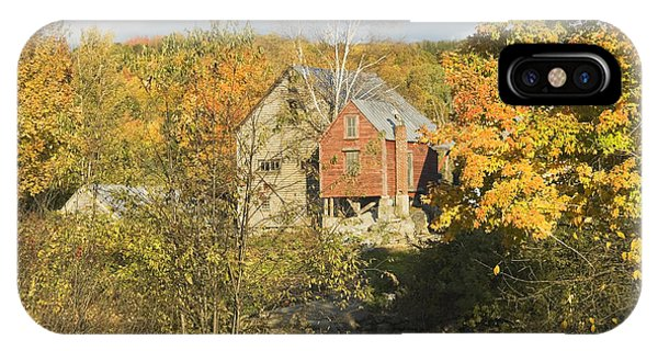 Old Buildings And Fall Colors In Vienna Maine IPhone Case