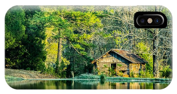 Old Cabin By The Pond IPhone Case