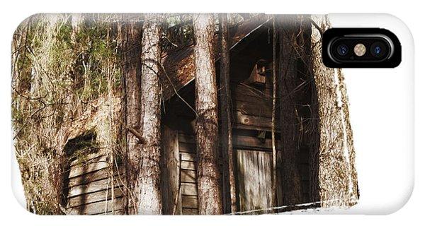 Old Cabin In Georga IPhone Case