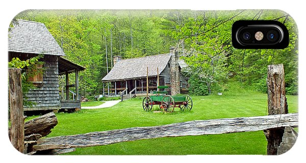 Old Cabins At The Cradle Of Forestry IPhone Case