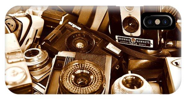 Old Cameras Phone Case by Marina Slusar