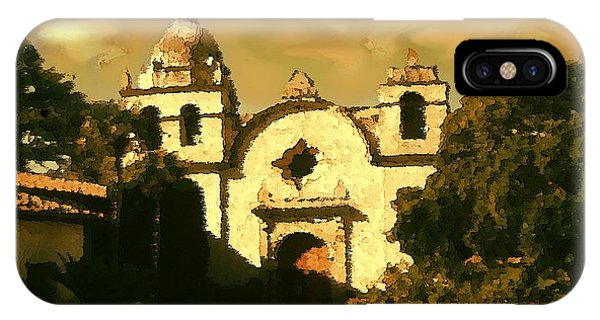 Old Carmel Mission - Watercolor IPhone Case