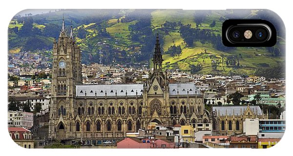 Old Cathedral In Quito Ecuador IPhone Case