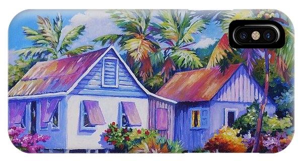 Bahamas iPhone Case - Old Cayman Cottages by John Clark