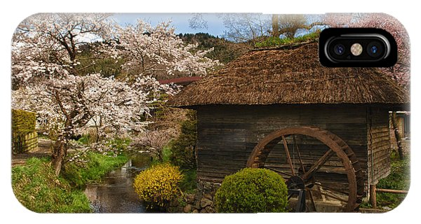 Old Cherry Blossom Water Mill IPhone Case