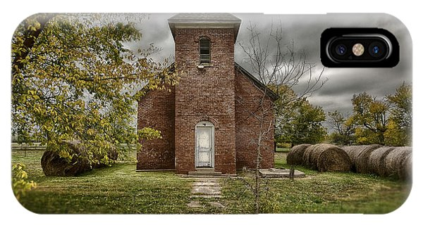 Old Church In Fall IPhone Case