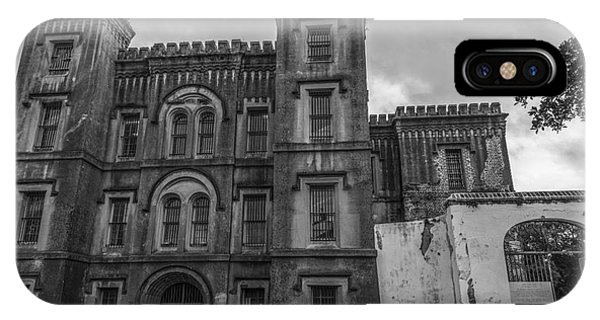 Old City Jail In Black And White IPhone Case