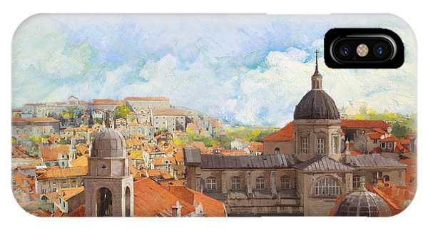 Castle iPhone X / XS Case - Old City Of Dubrovnik by Catf