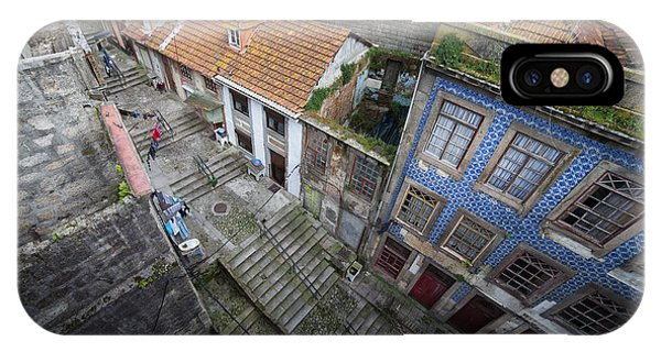 Old City Of Porto In Portugal From Above IPhone Case