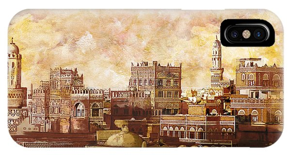 Castle iPhone X / XS Case - Old City Of Sanaa by Catf
