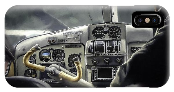 Old Cockpit Phone Case by Barb Hauxwell