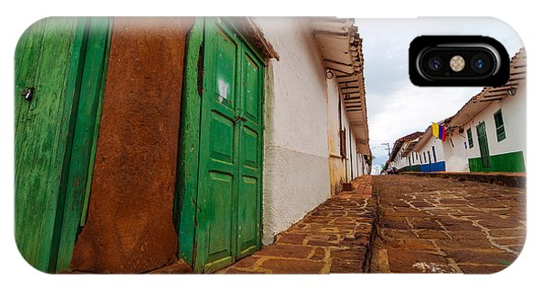 Colombia iPhone Case - Old Colonial Street Corner by Jess Kraft